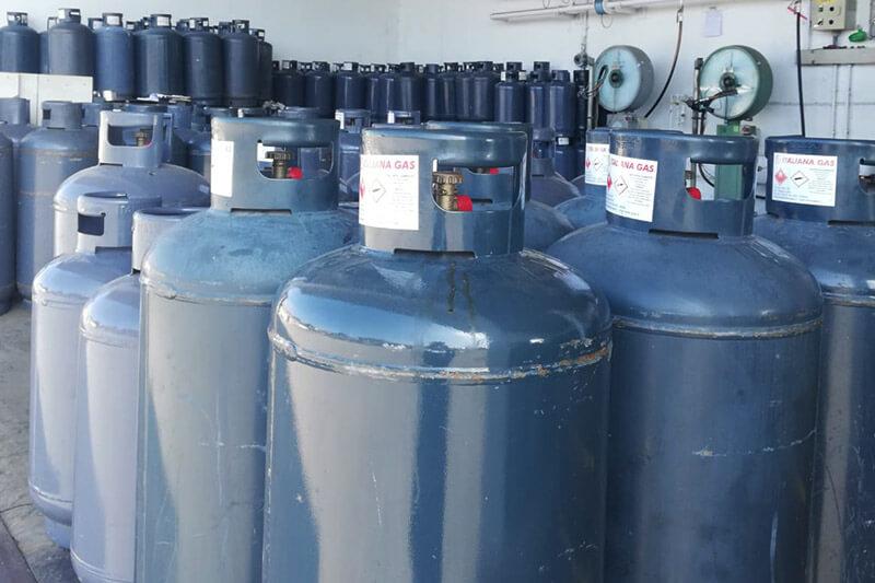 bombole diverse misure italiana gas milano